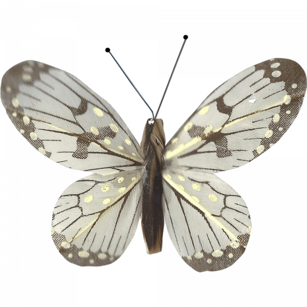 Décoration Énergie Solaire Papillon Belle-Demoiselle Blanc