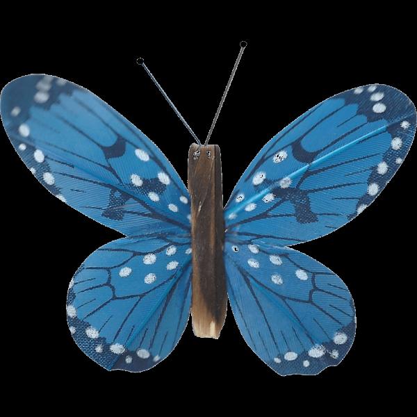 Décoration Énergie Solaire Papillon Belle-Demoiselle Bleu