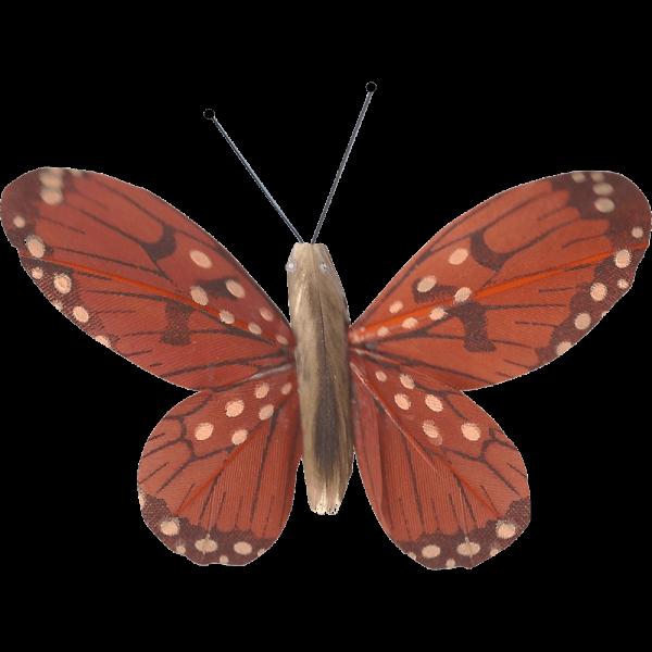 Décoration Énergie Solaire Papillon Belle-Demoiselle Orange