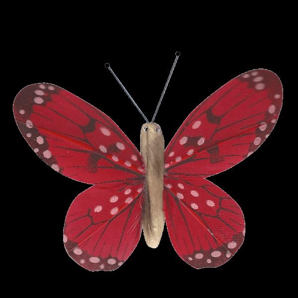 Décoration Énergie Solaire Papillon Belle-Demoiselle Rouge