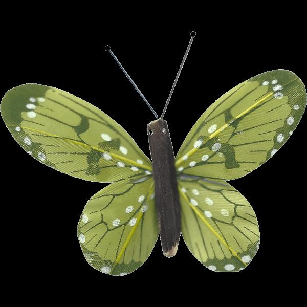 Décoration Énergie Solaire Papillon Belle-Demoiselle Vert
