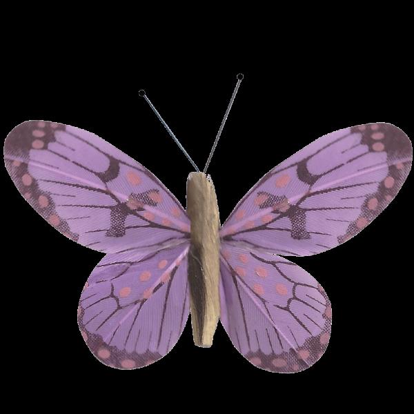 Décoration Énergie Solaire Papillon Belle-Demoiselle Violet