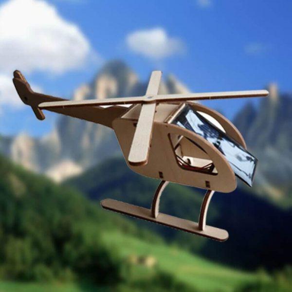 Grand Hélicoptère Bois Energie Solaire Ciel R018b