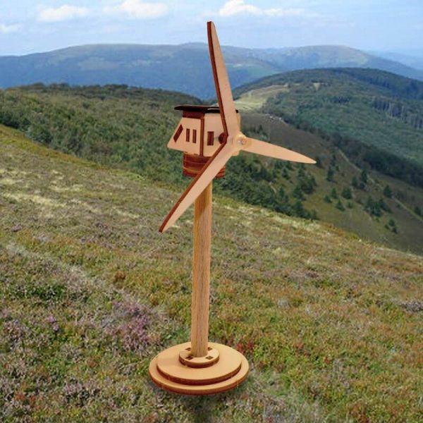 Mini Éolienne Jouet Solaire Écologique