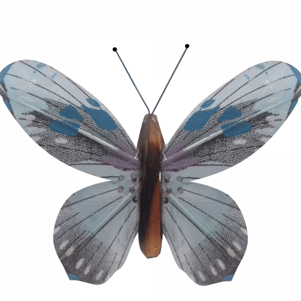 Papillon Animé Ailes Bleues Flambée Printanière