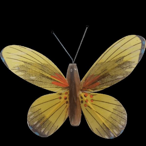 Papillon Animé Ailes Jaunes Flambée Printanière