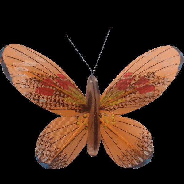 Papillon Animé Ailes Oranges Flambée Printanière