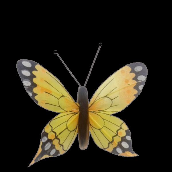 Déco Solaire Vol Papillon Ailes Comète Éphémère Jaune