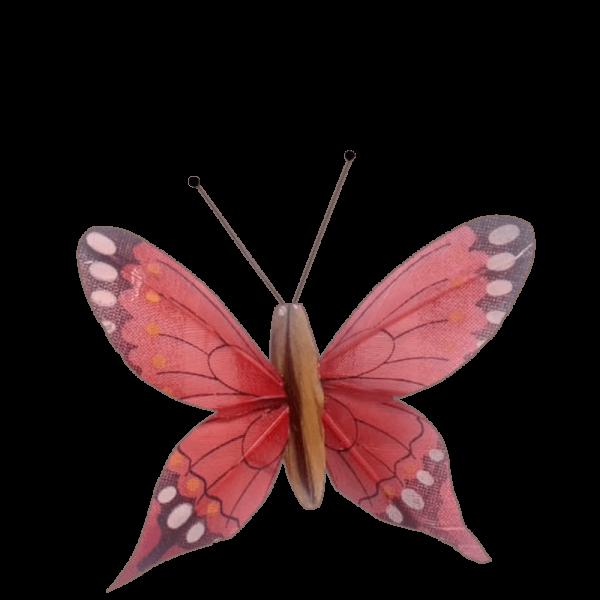 Déco Solaire Vol Papillon Ailes Comète Éphémère Rouge