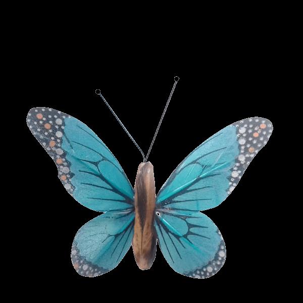 Insecte Décoratif Jardin Papillon Monarque Mariposa Bleu