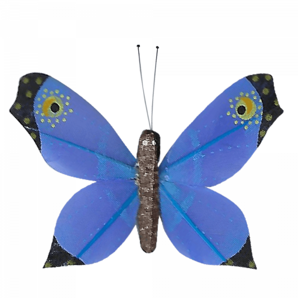Déco Éthique Solaire Papillon 3D Bleu Faucon Titan