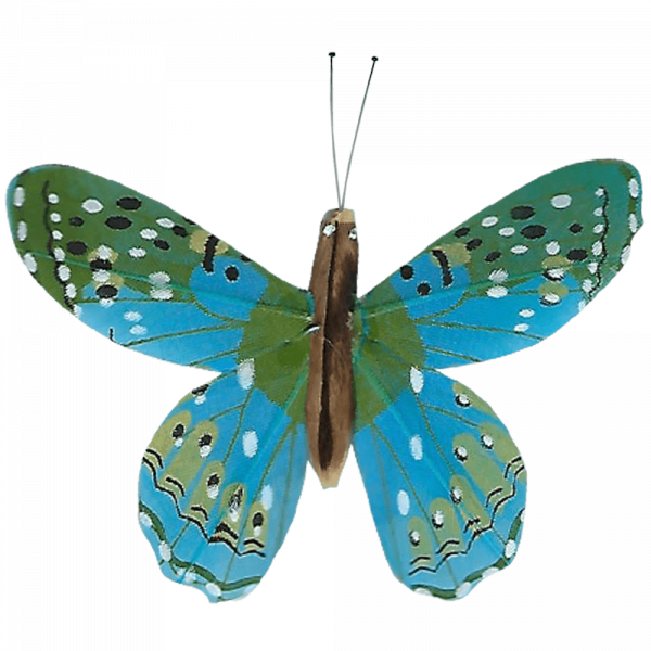 Déco Éthique Solaire Papillon 3D Magical Butterfly Bleu