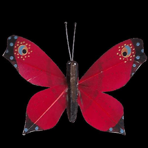 Déco Éthique Solaire Papillon 3D Rouge Faucon Titan
