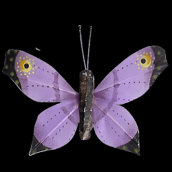 Déco Éthique Solaire Papillon 3D Violet Faucon Titan