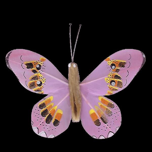 Décoration Énergie Solaire Papillon Apollon Cuivré Rose