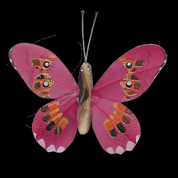 Décoration Énergie Solaire Papillon Apollon Cuivré Rouge