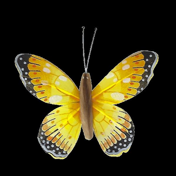 Papillon Animé Ailes Jaunes Marbré Espagnol