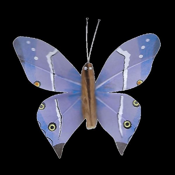 Papillon Animé Ailes Paon Boisé Bleu