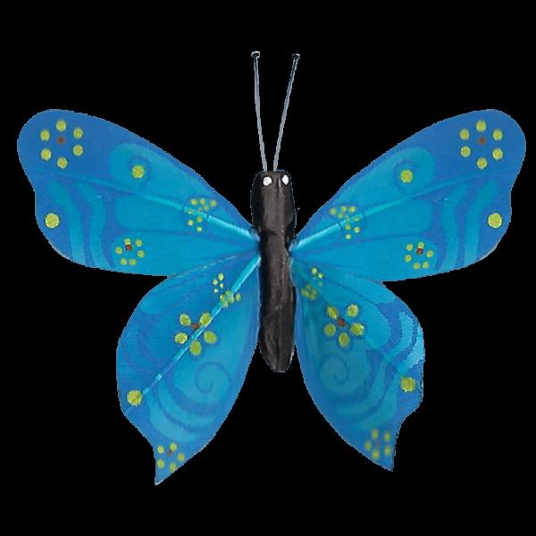 Papillon Sans Piles Ailes Douceur Nacrée Bleu