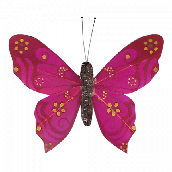 Papillon Sans Piles Ailes Douceur Nacrée Fuchsia