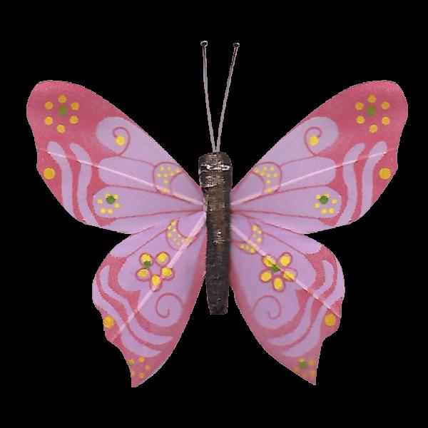 Papillon Sans Piles Ailes Douceur Nacrée Rose