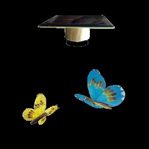 Déco Animée Sans Piles Papillon Solaire