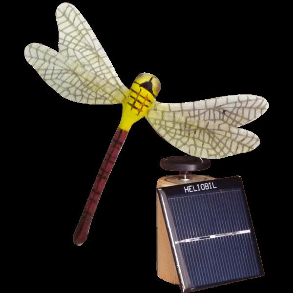 Deco Nature Energie Solaire Libellule Jaune Prune