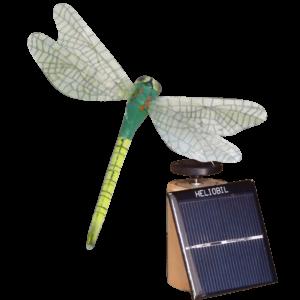 Deco Nature Energie Solaire Libellule Vert Anis
