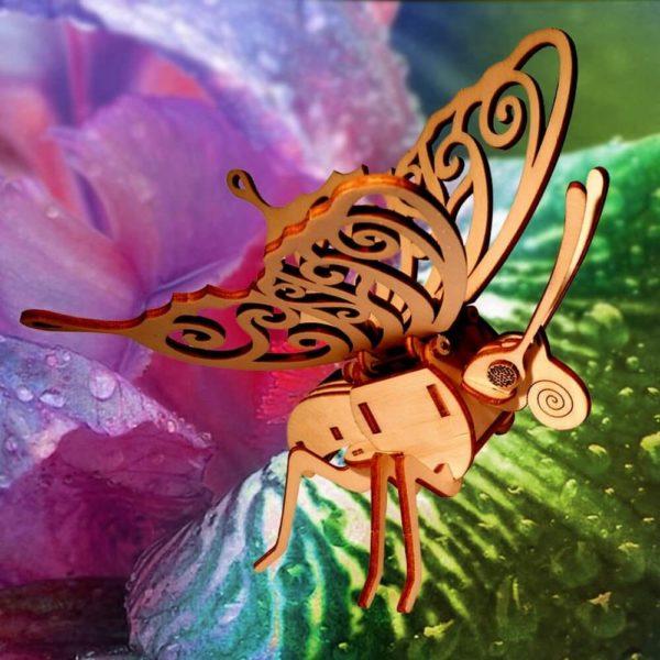 Objet Décoratif Papillon Solaire Animé