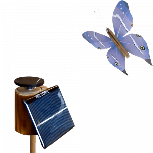Papillon 3D Animé Cellule Solaire Inclinée