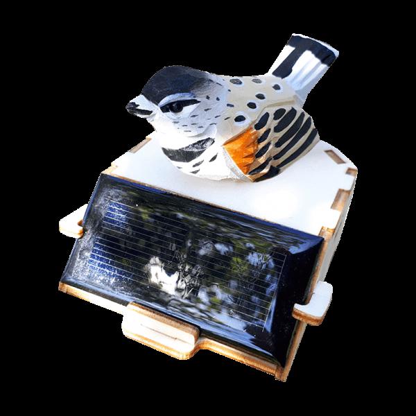 Petit Oiseau Blanc Dansant Energie Solaire