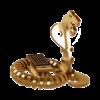 Sculpture Jouet Bois Cobra Animé Photovoltaique