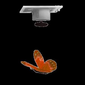 Accessoire Papillon Plume Socle Suspendu