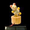Figurine Solaire Bois Mouton Dansant