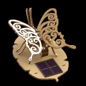 Papillon Bois Ailes Animées Deco Solaire